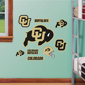 Colorado Buffaloes - Team Logo Assortment Fathead Wall Decal